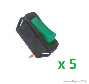 USE STV 04 Világítós billenőkapcsoló, 1 áramkör - 2 állás, 250 V, zöld, 5 db / csomag