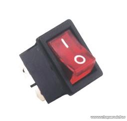 USE STV 05X Világítós billenőkapcsoló, 2 áramkör - 2 állás, 250 V, piros, 1 db