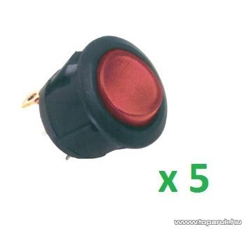 USE STV 07 Világítós billenőkapcsoló, 1 áramkör - 2 állás, 250 V, piros, 5 db / csomag