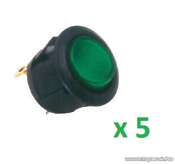 USE STV 08 Világítós billenőkapcsoló, 1 áramkör - 2 állás, 250 V, zöld, 5 db / csomag
