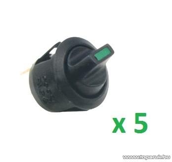 USE STV 10 Világítós billenőkapcsoló, 1 áramkör - 2 állás, 250 V, zöld LED külön kivezetéssel, 5 db / csomag