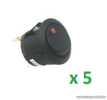 USE STV 11 Világítós billenőkapcsoló, 1 áramkör - 2 állás, 250 V, piros, 5 db / csomag