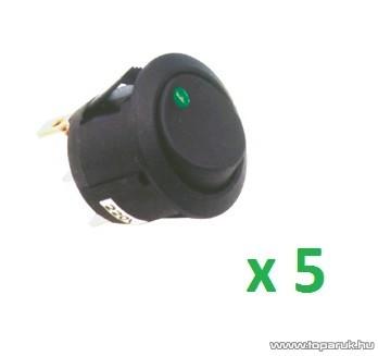USE STV 12 Világítós billenőkapcsoló, 1 áramkör - 2 állás, 250 V, zöld, 5 db / csomag