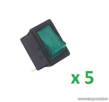 USE STV 16 Világítós billenőkapcsoló, 1 áramkör - 2 állás, 250 V, zöld, 5 db / csomag