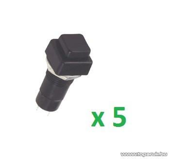USE ST 11/BK Nyomókapcsoló, 1 áramkör - 2 állás, 250 V, fekete, 5 db / csomag