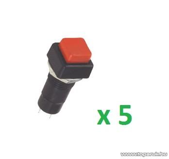 USE ST 11/RD Nyomókapcsoló, 1 áramkör - 2 állás, 250 V, piros, 5 db / csomag