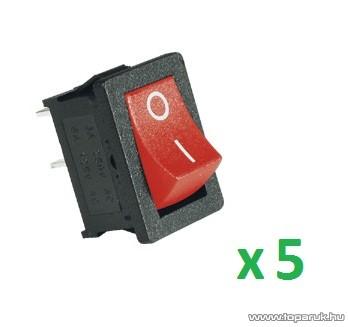 USE ST 1/RD Mini billenőkapcsoló, 1 áramkör - 2 állás, 250 V, piros, 5 db / csomag