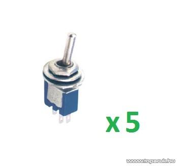 USE ST 302 Billenőkapcsoló, 1 áramkör - 2 állás, 250 V, 5 db / csomag