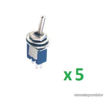 USE ST 303 Billenőkapcsoló, 1 áramkör - 3 állás, 250 V, 5 db / csomag