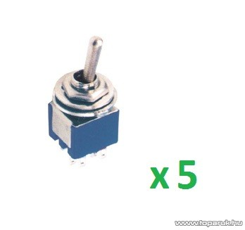 USE ST 305 Billenőkapcsoló, 2 áramkör - 3 állás, 250 V, 5 db / csomag