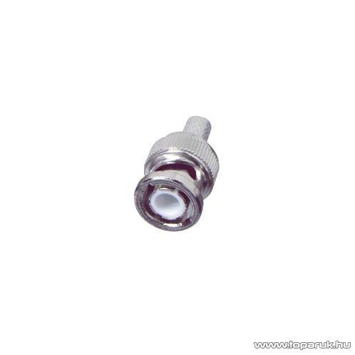 USE S 29-5CX BNC dugó / csatlakozó, RG 58 koax kábel-hez, 50 ohm, szerelhető, 1 db