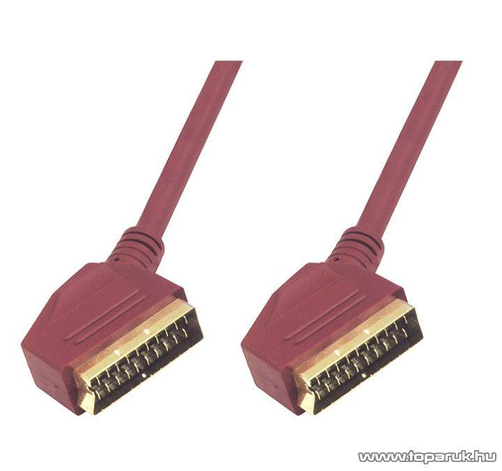 USE VC 3DG Euro scart kábel 21 pólusú euro dugó - 21 pólusú euro dugó, 1,5 m OFC kábelen