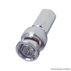 BNC dugó / csatlakozó, RG 59 koax kábel-hez, 50 ohm, szerelhető (S 29-5T)