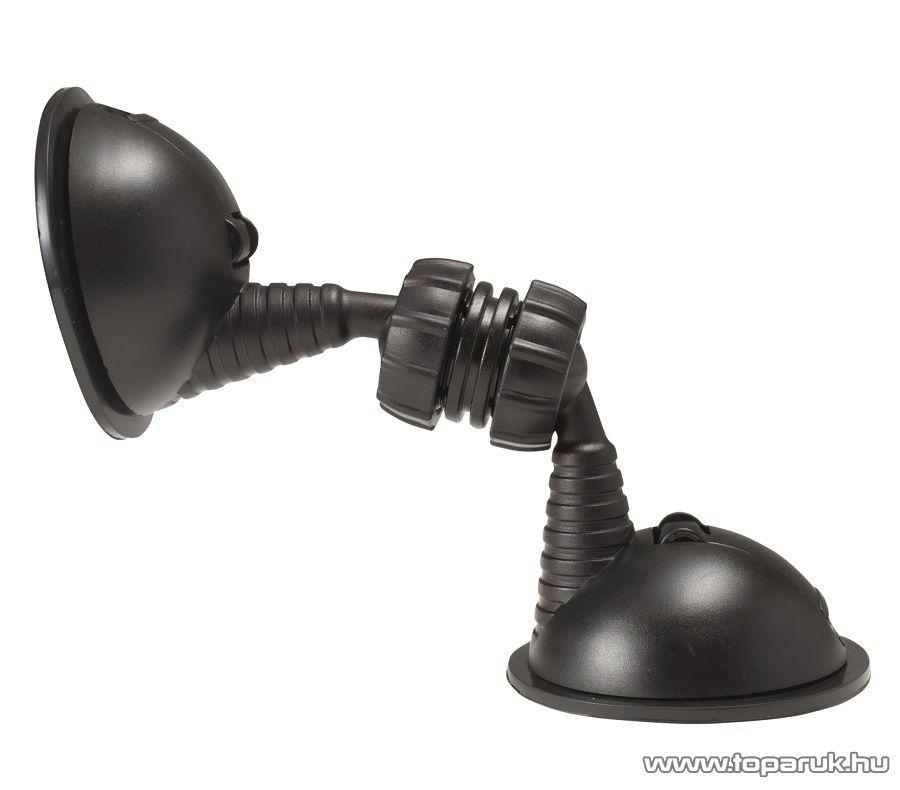 SAL SA 053 Dupla tapadókorongos autós telefon tartó, fekete