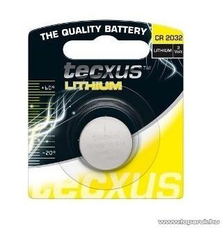 tecxus TC CR2032X 3V gombelem, Litium, 1 db