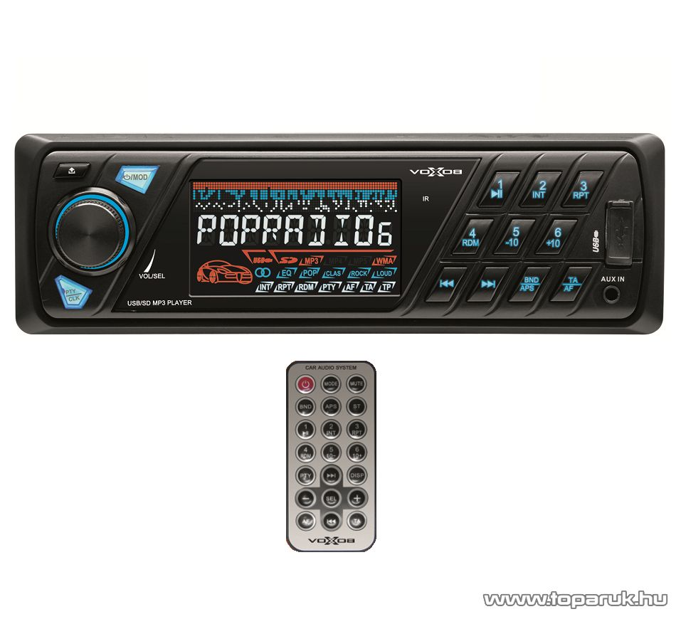 SAL voXbox VB 6000 Autórádió és zenelejátszó, fejegység