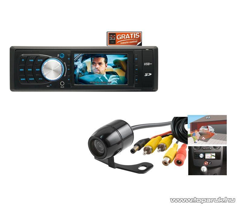 """SAL voXbox VB X001/SET Autórádió és zenelejátszó, fejegység multifunkciós 3,0""""-os LCD kijelzővel + színes autós tolatókamera - megszűnt termék: 2016. április"""
