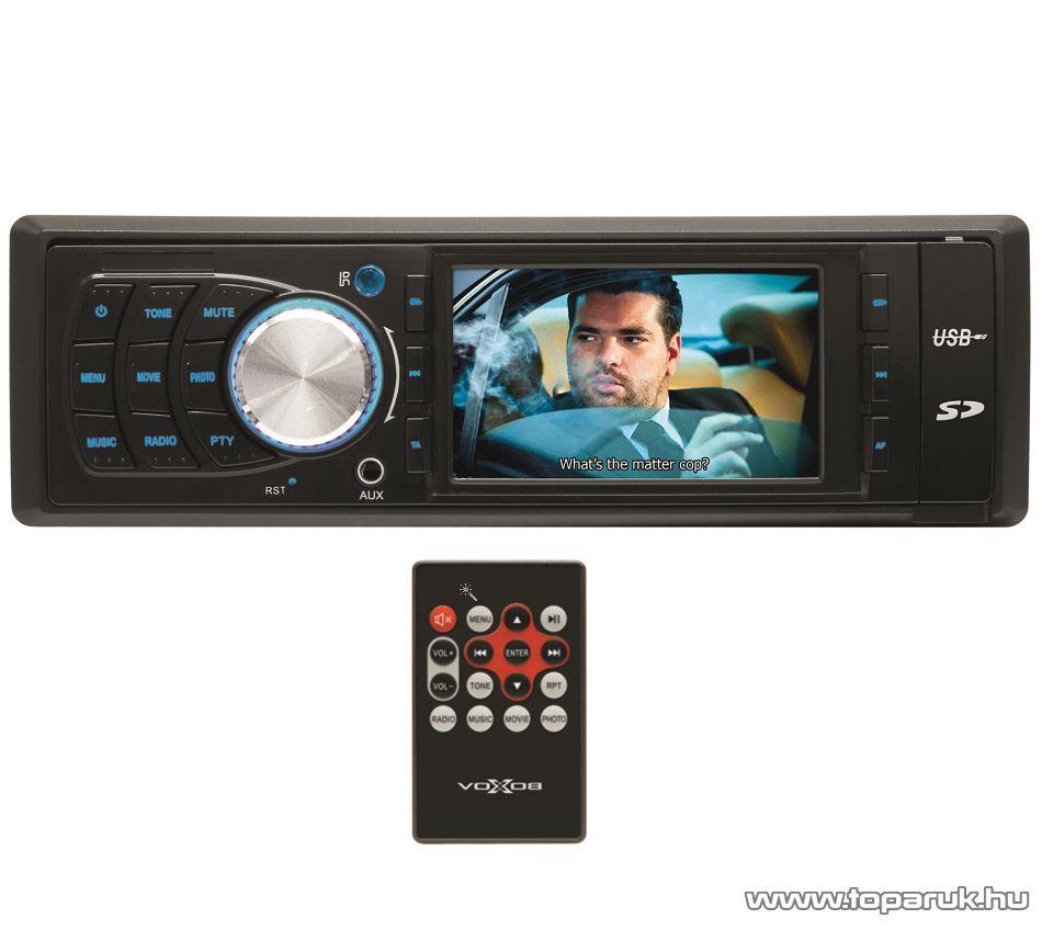 """SAL voXbox VB X001 Autórádió és zenelejátszó, fejegység multifunkciós 3,0""""-os LCD kijelzővel"""