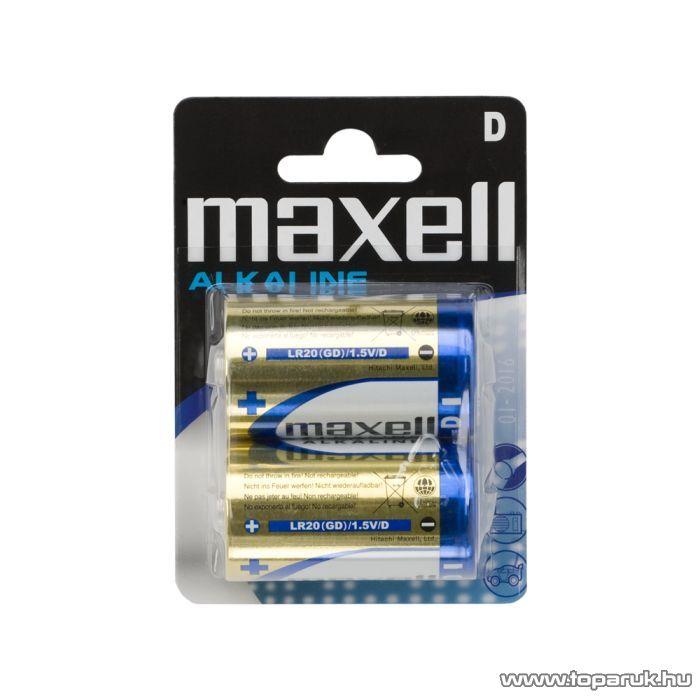 maxell Tartós góliát elem, D, LR20, Alkaline, 1,5 V, 2 db / csomag (18723)