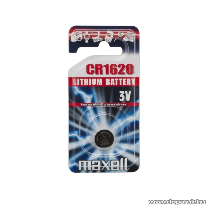 maxell CR 1620 Lítium gombelem, 3 V (18746)
