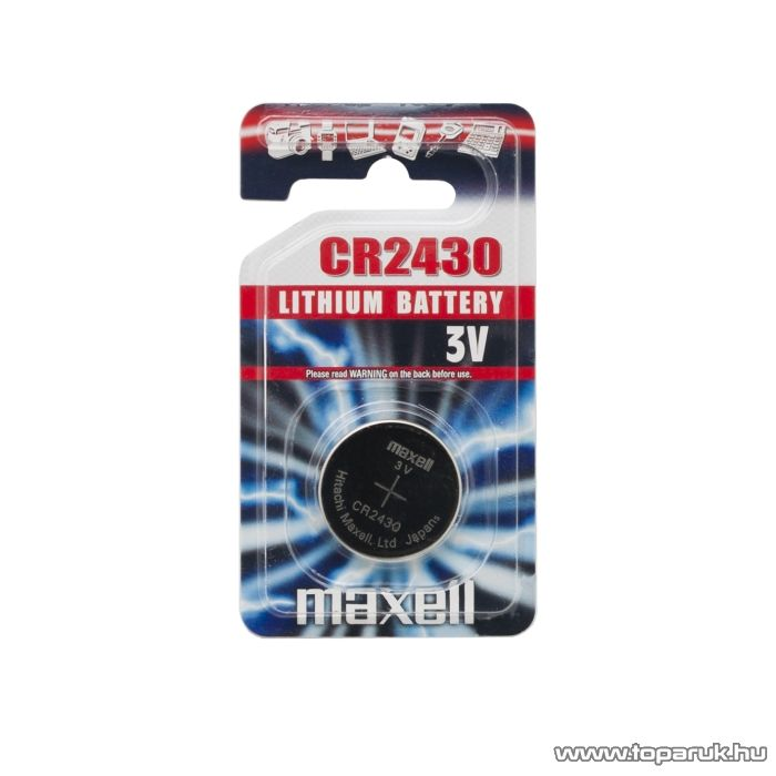 maxell CR 2430 Lítium gombelem, 3 V (18747)