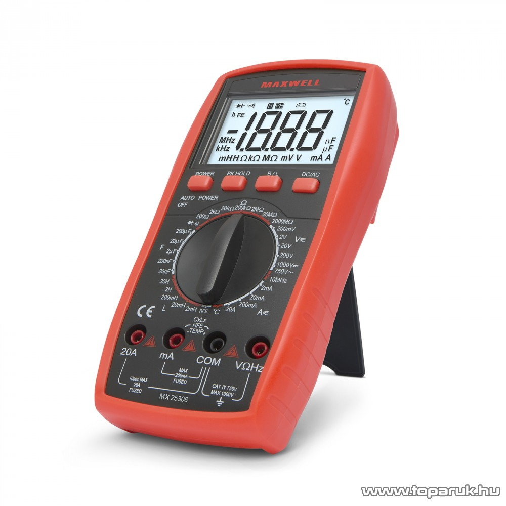 Maxwell MX-25 306 Digitális multiméter induktivitás méréssel (25306)