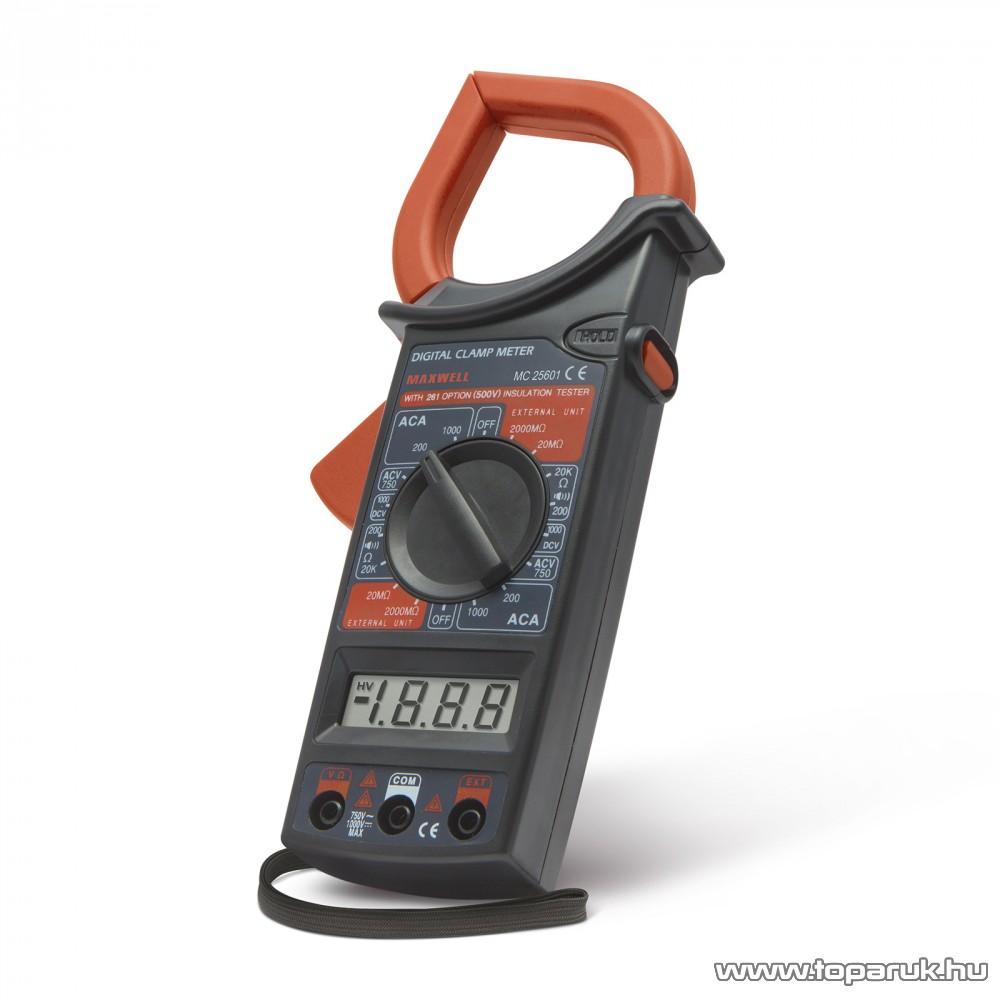 Maxwell MC-25 601 Digitális lakatfogó ellenállás méréssel (25601)
