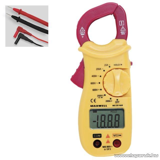 Maxwell MC-25 605 Digitális lakatfogó ellenálás méréssel (25605)