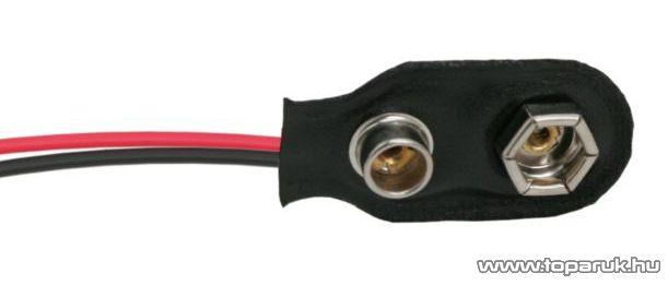 neXus 9V-os elem csatlakozó, 110mm, 10 db / csomag (05176)