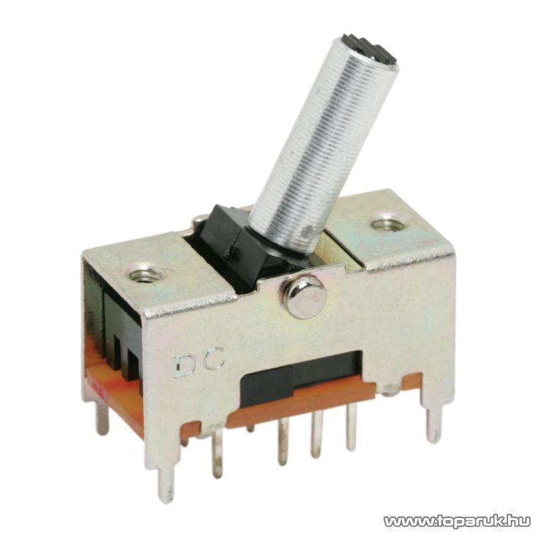 Karos kapcsoló, 2 áramkör, 0,3A-50VDC, ON-ON-ON, 5 db / csomag (09014)