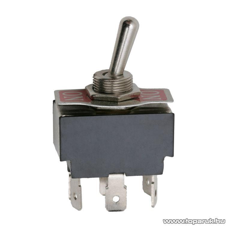 Karos kapcsoló, 2 áramkör, 10A-250V, ON-ON, előlappal, 2 db / csomag (09017)
