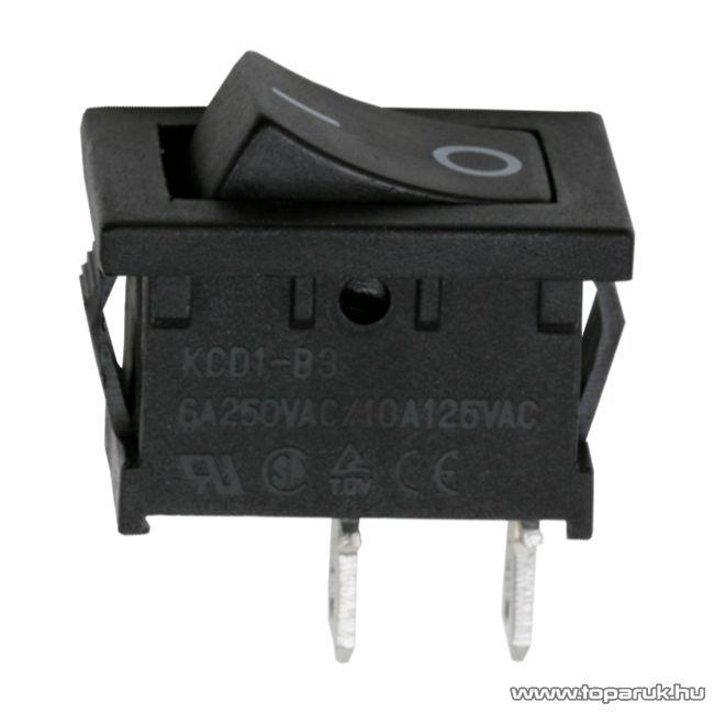 Billenő kapcsoló, 1 áramkör, 250V, OFF-ON, I-O jelzéssel, 5 db / csomag (09020X) - megszűnt termék: 2015. március