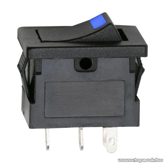 Billenő kapcsoló, 1 áramkör, 15A-12VDC, OFF-ON, kék LED-el, 5 db / csomag (09027KE)