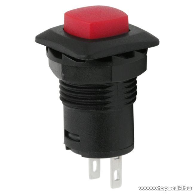 Nyomógomb, 1 áramkör, 1,5A-250V, OFF-(ON), 5 db / csomag (09039)