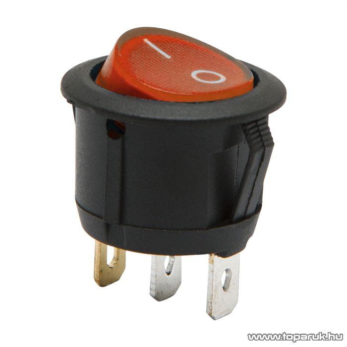 Billenő kapcsoló 1 áramkör 6A-250V ON-OFF piros világítással, 5 db / csomag (09085RD)