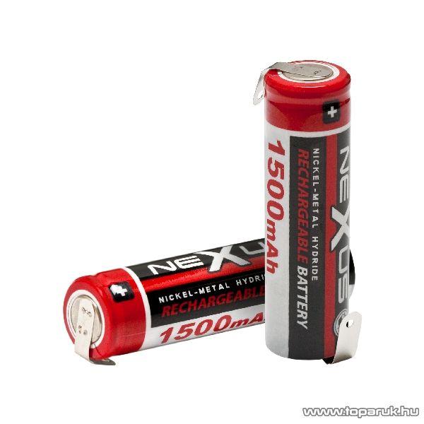 neXus Ceruza akkumulátor, forrasztható kivitel, SAA, HR06, Ni-MH, 1,2V, 1500 mAh, 2 db / csomag (18503) - készlethiány