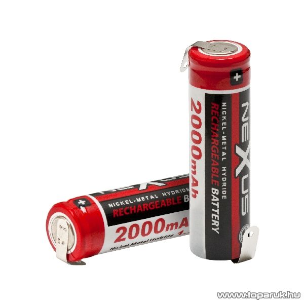 neXus Ceruza akkumulátor, forrasztható kivitel, SAA, HR06, Ni-MH, 1,2V, 2000 mAh, 2 db / csomag (18514)