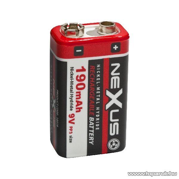neXus 9V-os akkumulátor E-Block, PP3, 6HR061, Ni-MH, 9V, 190 mAh (18519)