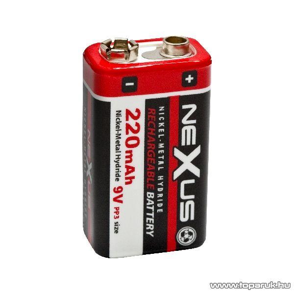 neXus 9V-os akkumulátor E-Block, PP3, 6HR061, Ni-MH, 9V, 220 mAh (18532)