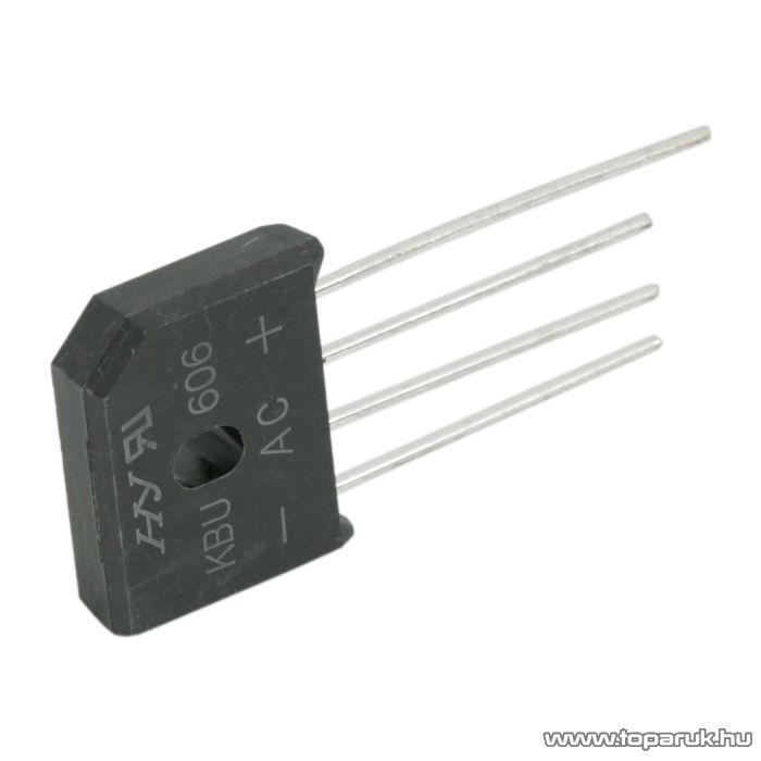 Graetz, KBU 606, 6A, 600V, 5 db / csomag (08109)