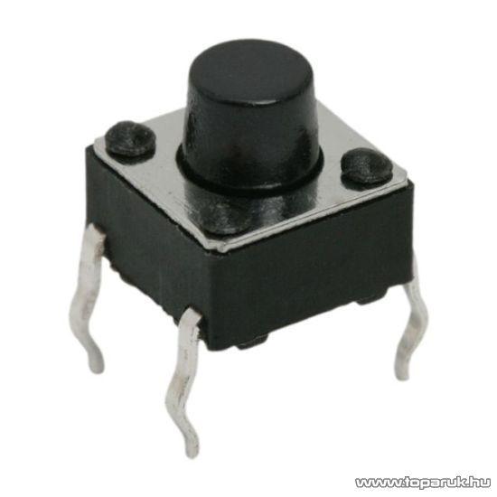Mikrokapcsoló, 1 áramkör, 0,05A-12V, DC, ON-(OFF), 20 db / csomag (09002)