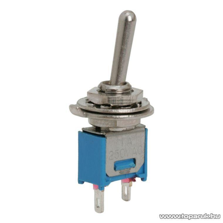 Karos kapcsoló, 1 áramkör, 1A-250V, OFF-ON, 5 db / csomag (09004)