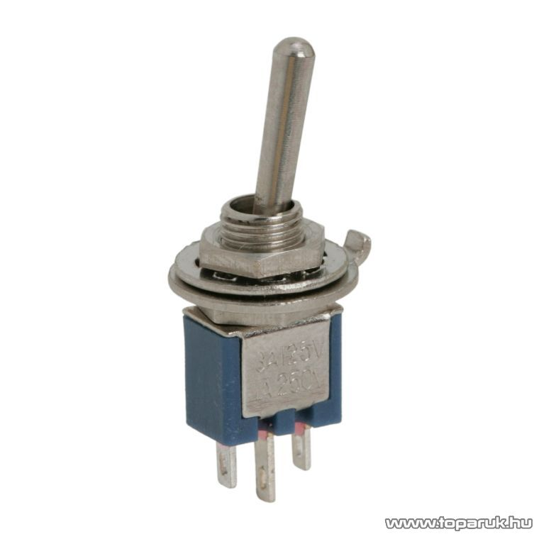 Karos kapcsoló, 1 áramkör, 1A-250V, ON-ON, 10 db / csomag (09007)