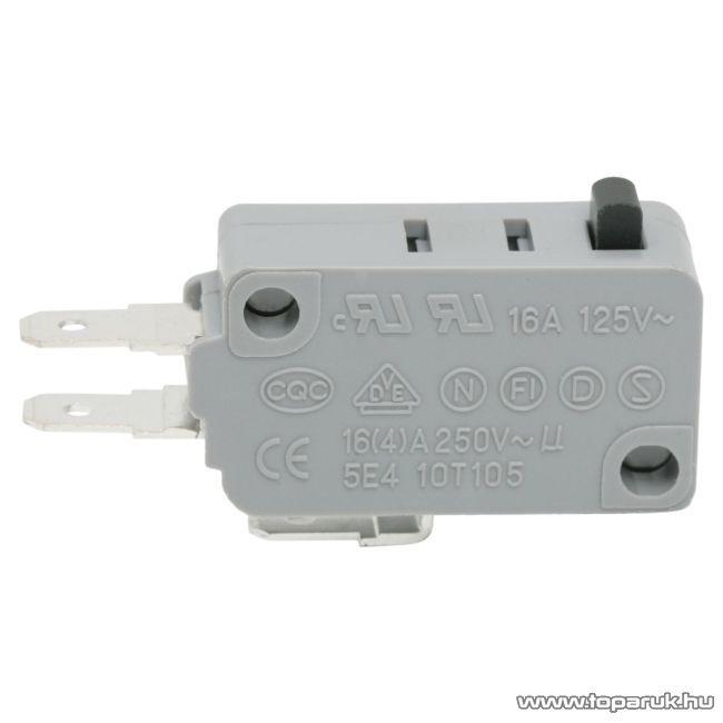 Mikrokapcsoló, 1 áramkör, 16(4)A-250V, ON-ON, 5 db / csomag (09008)