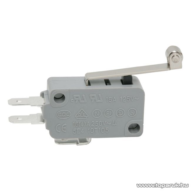 Mikrokapcsoló, 1 áramkör, 16(4)A-250V, ON-ON, 5 db / csomag (09009)
