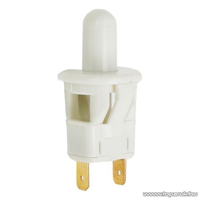 Nyomógomb, 1 áramkör, 2,5A-250V, ON-(OFF), 5 db / csomag (09071)