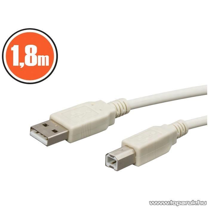 neXus USB kábel, A dugó - B dugó, 1,8 m, 2 db / csomag (20121)
