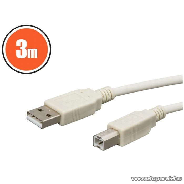neXus USB kábel, A dugó - B dugó, 3 m (20123)
