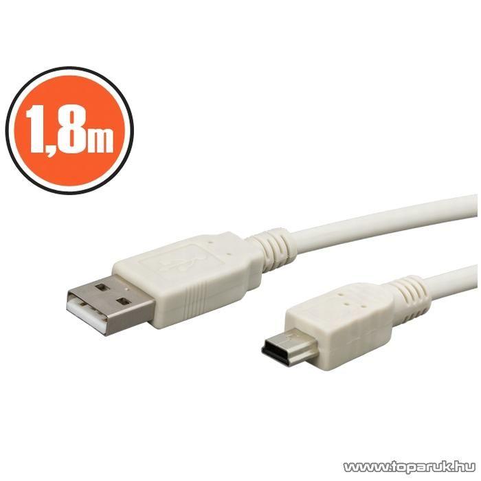 neXus USB kábel, A dugó - B dugó (mini), 1,8 m (20133)