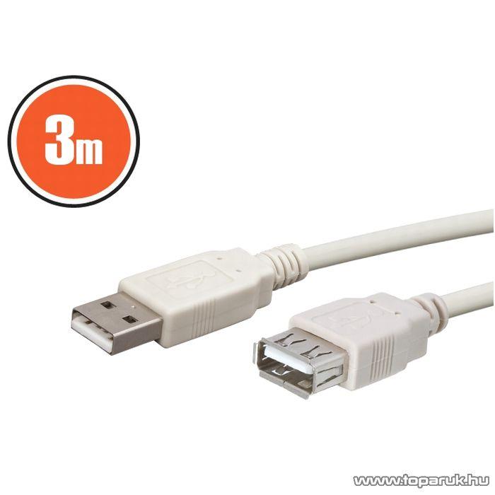 neXus USB hosszabbító kábel, A aljzat - A dugó, 3,0 m (20167)